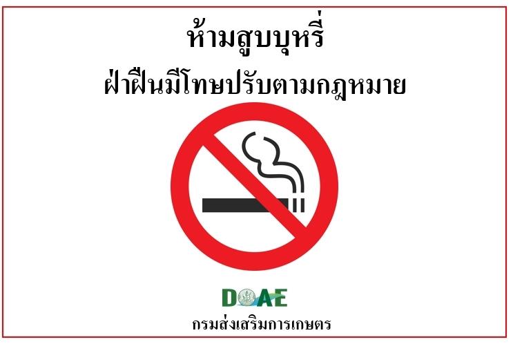 1. เครื่องหมายเขตปลอดบุหรี่สำหรับติดแสดงในยานพาหนะสาธารณะ